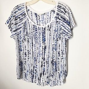 Anthropologie | Lucy & Laurel Water Color Print T